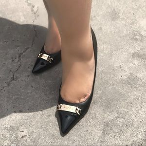 Coach leather 4cm heels pumps